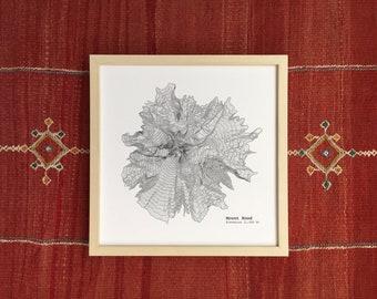 0e782152fe Mount Hood Oregon Topographic Map - Art Print