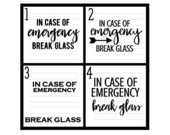 In case of emergency etsy in case of emergency break glass decal coffee shadow box chocolate lovers skittles valentines day gift bridesmaids gifts maxwellsz