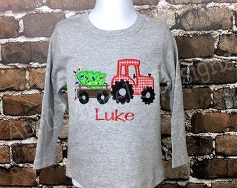 a101ed70e Christmas Shirt, Christmas Tractor Shirt, Christmas Tree Shirt, Holiday  Tractor Shirt, Boys Christmas Shirt, Tractor Shirt, Christmas, Tree