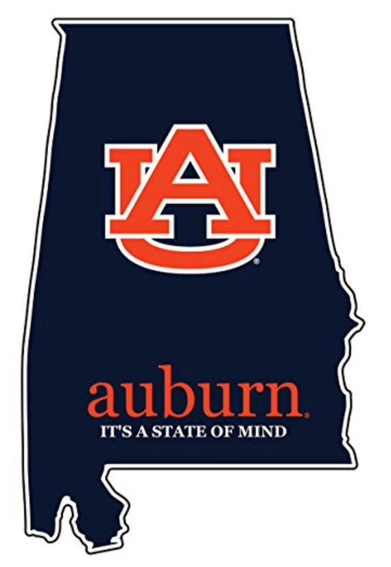 c101e8552f4 Auburn Tigers 4 State of Mind Premium Vinyl Decal