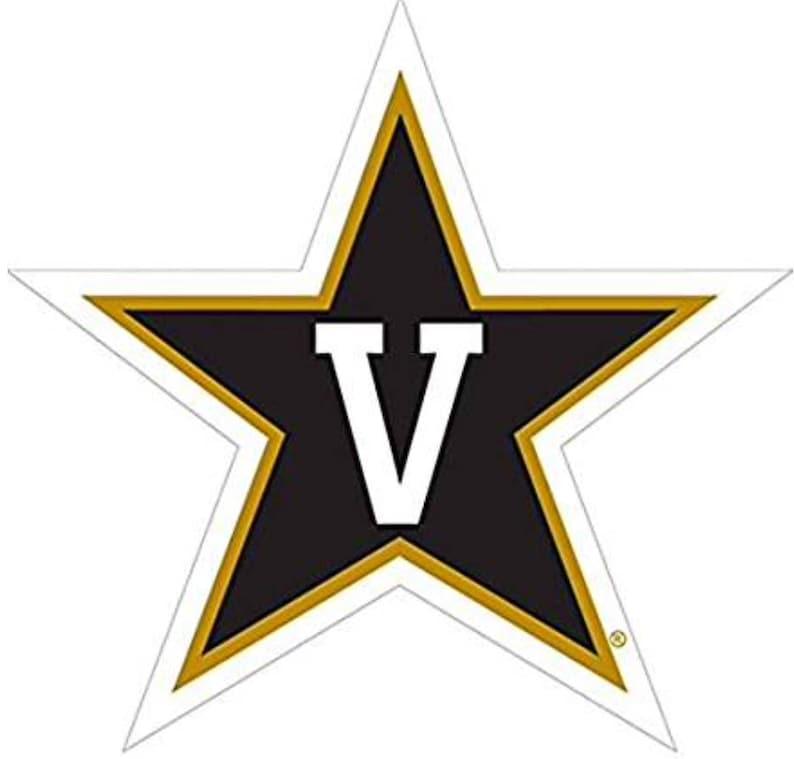 """VANDERBILT COMMODORES 3/"""" PREMIUM VINYL DECAL SET OF 2 LICENSED NCAA"""