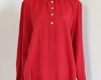 Today Red 90's blouse size L