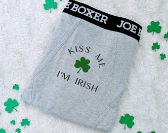 f11821ecd Personalized Boxers -ST. PATRICKS - Naughty Boxers - IRISH Funny Boxer  Briefs - Groom Boxers - Gifts For Him - Anniversary Gift for Him