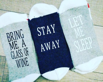 gift, wine socks, wine, If You Can Read This socks, Stocking Stuffer, Bring Me WINE, christmas gift, socks, Gifts for Wine Lovers, Sock,