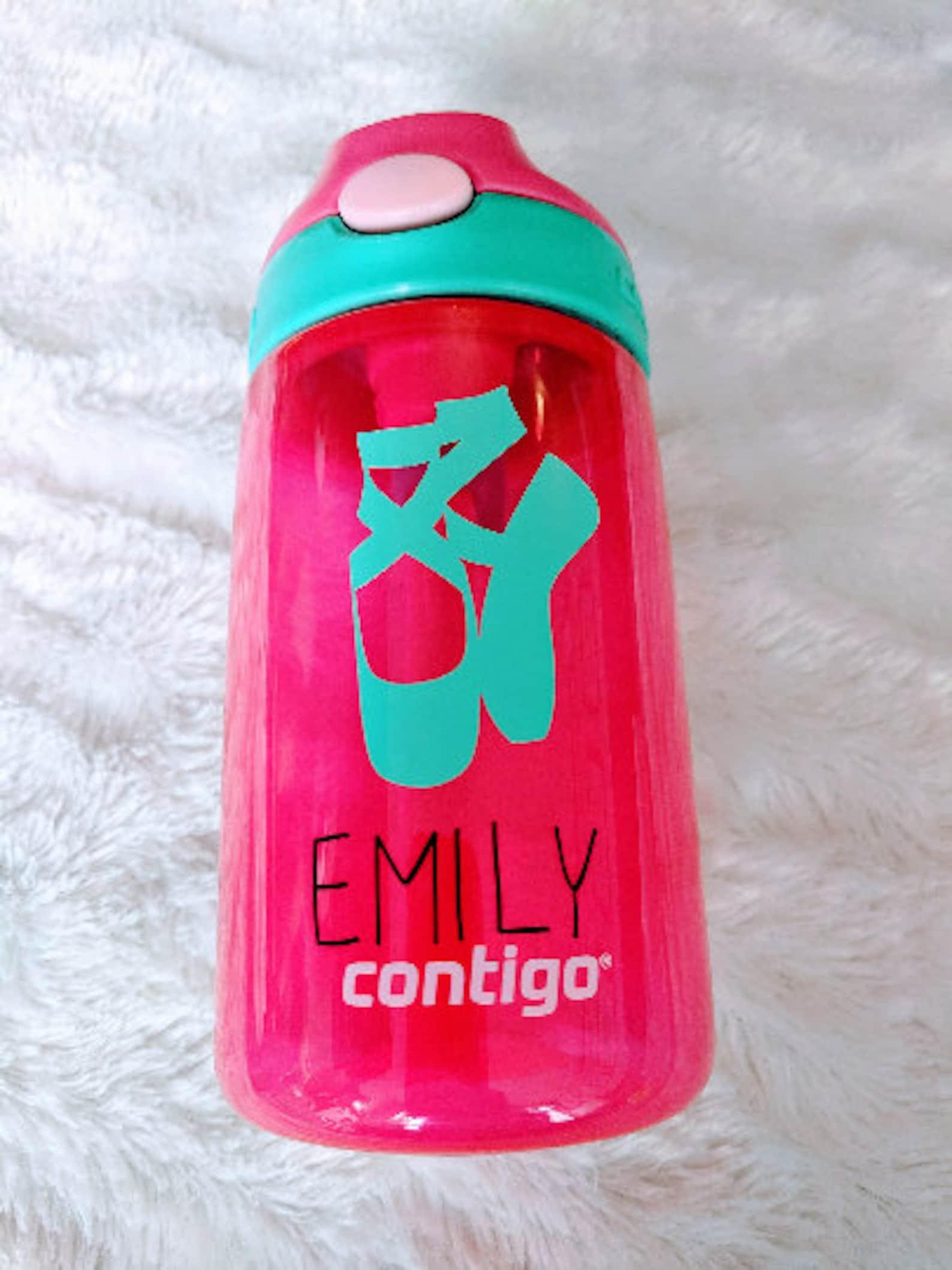 dance water bottle -diy - water bottle- stickers -ballet shoes bottle-custom water bottle-personalized dancer gift-water bottle
