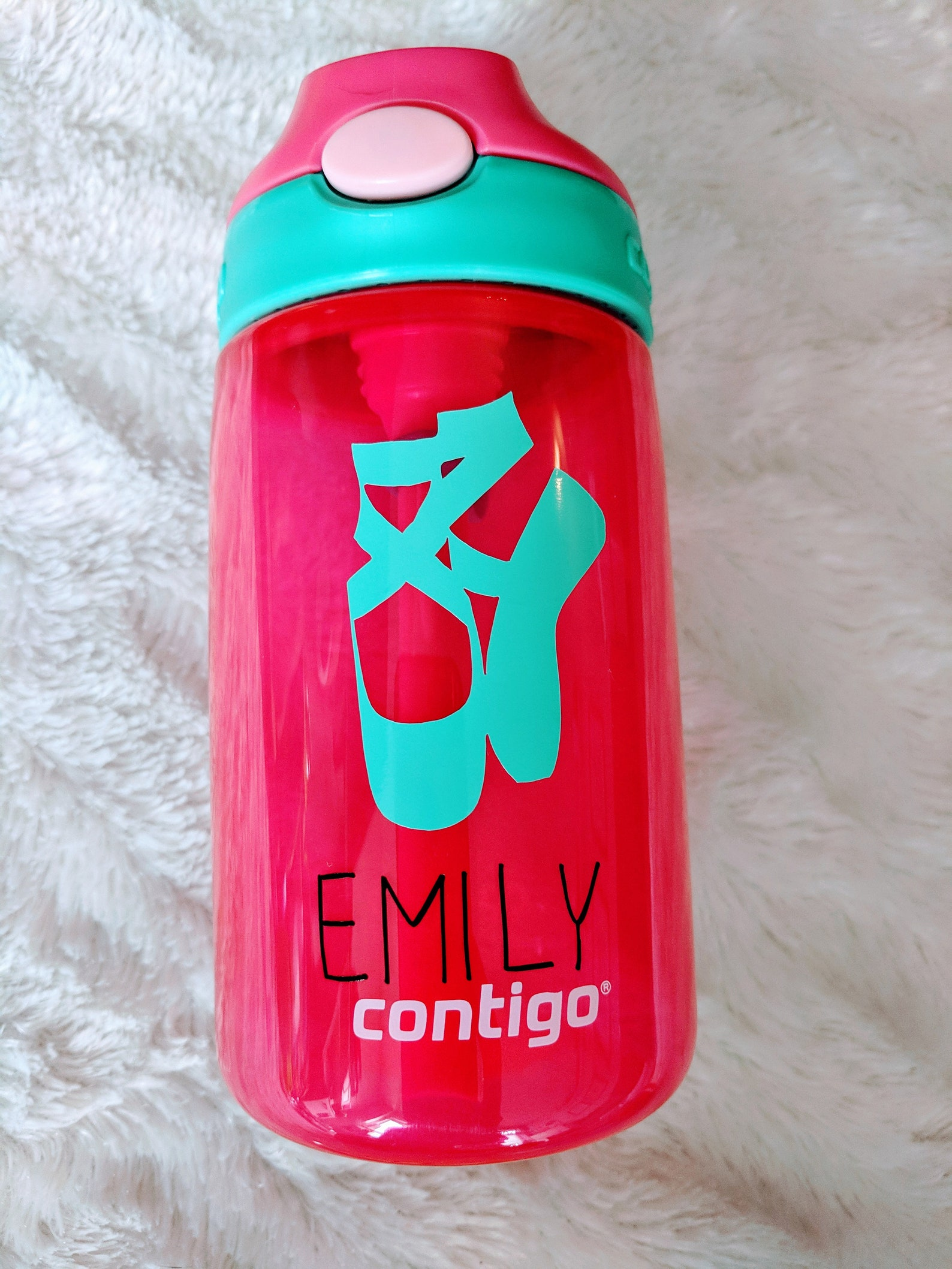 dance water bottle - water bottle-ballet shoes bottle- custom water bottle-personalized dancer gift-water bottle with name- kids