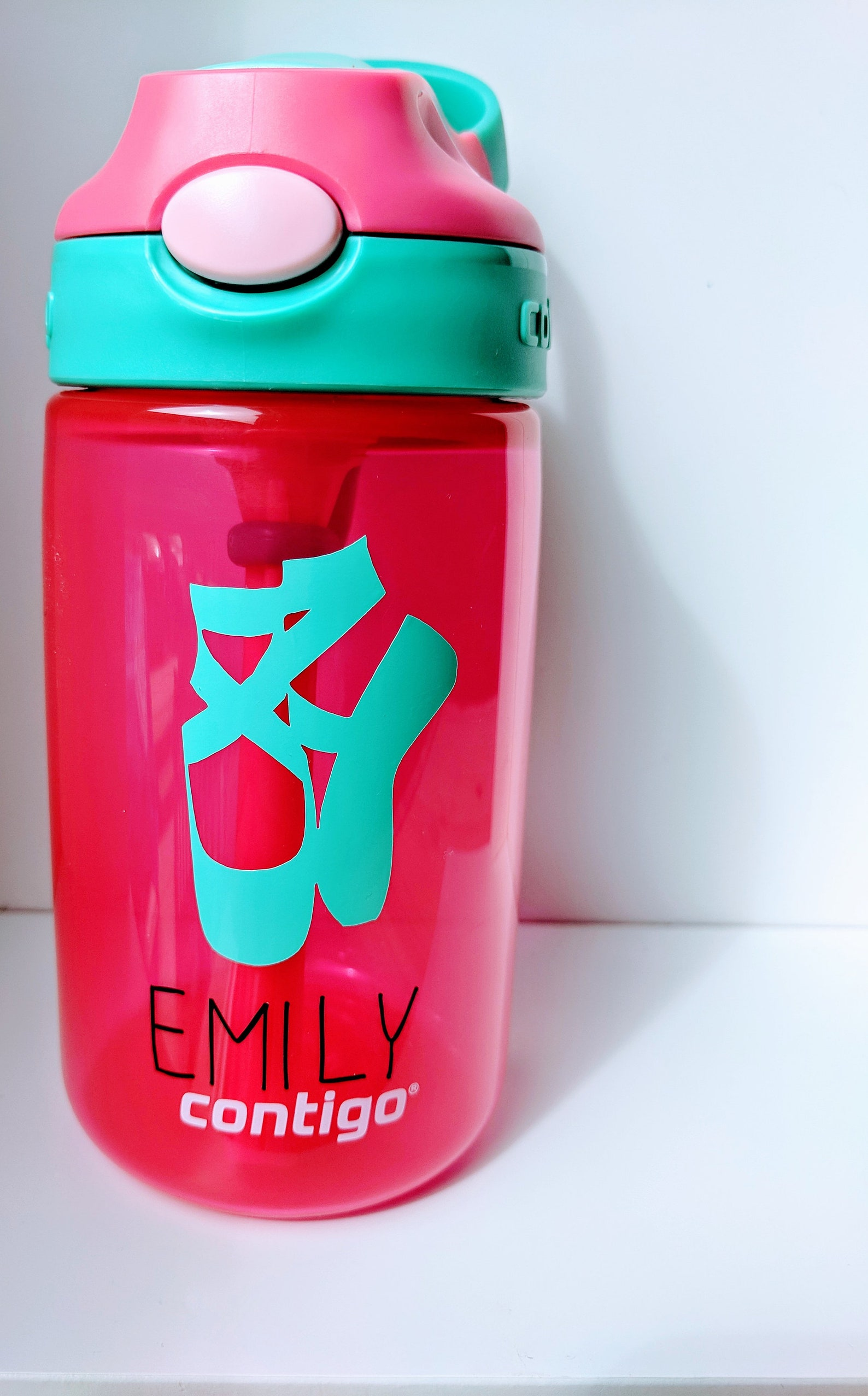 dance water bottle -diy - water bottle- stickers -ballet shoes bottle-custom water bottle-personalized dancer gift-water bottle