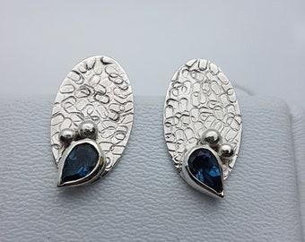 BO Topaze Blue London silver 925/1000th