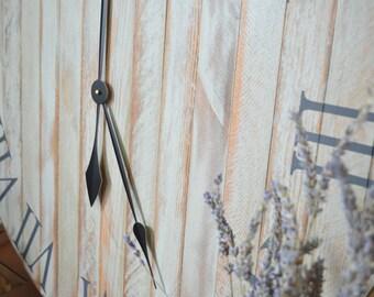 """24"""" Clock, Large Rustic Wall Clock, Farmhouse Clock, Old World Clock, Wood Clock, Wooden Clock, Farm House Clock, Natural Wood Clock"""