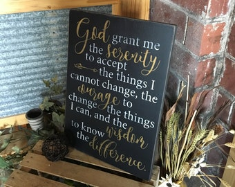 Serenity Prayer, God Grant Me The Serenity
