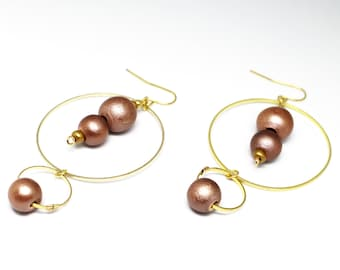 Creole gold and wood beads
