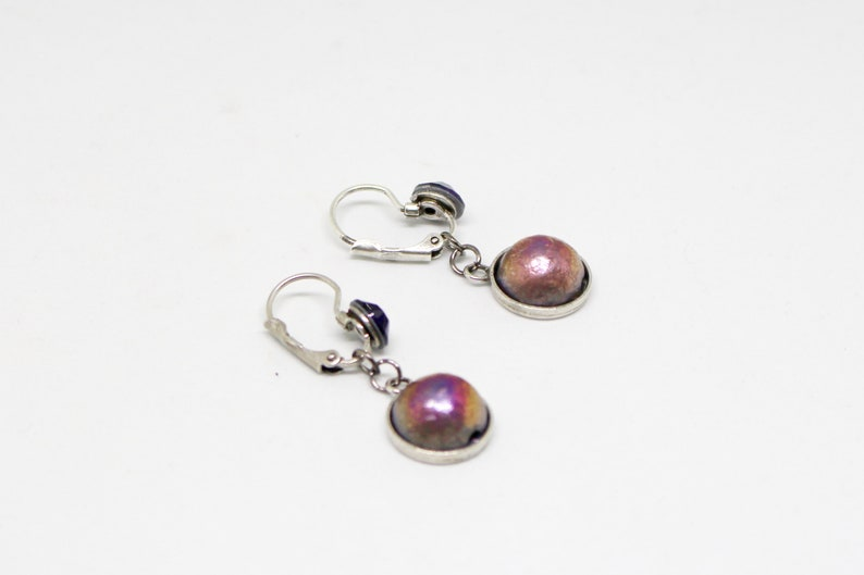 Purple sleeping earrings