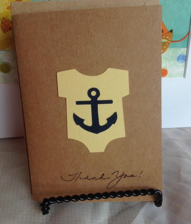 kids thank you cards. thank you note cards Thank you baby shower cards Nautical Thank you cards baby shower thank you cards