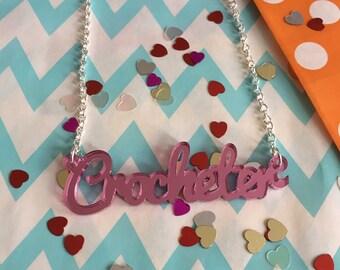 Mirrored Crocheter Necklace
