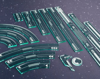 Acrylic Maneuver and Range Ruler Templates - Second Edition Compatible