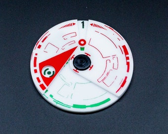 Battle of Yavin Acrylic 12 Round Counter - X-Wing - Legion - Armada Compatible