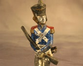 Extremely Rare Antique Lead Toy Soldier French Infantry Man Circa 1795 Unusually Large 6 7 8 quot 17.5cm tall