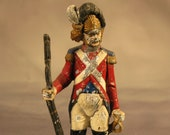 Extremely Rare Antique Lead Toy Soldier French Grenadier Infantry Man Circa 1795 Unusually Large 6 7 8 quot 17.5cm tall