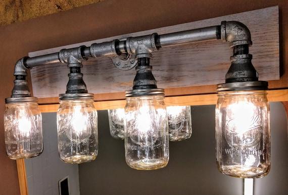 Industrial Vanity Lighting Rustic Bathroom Light Fixture Etsy