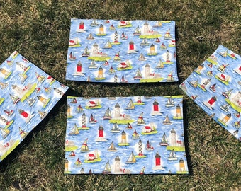 Placemats - Ocean View Quilted Placemat Set of 4 - #PS-18