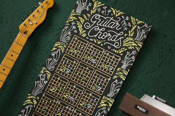 Guitar Chords chart sign hand painted original or print