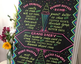 "30"" X 40"" Food & Drink Menu Chalkboards for events - custom sizes and designs!"
