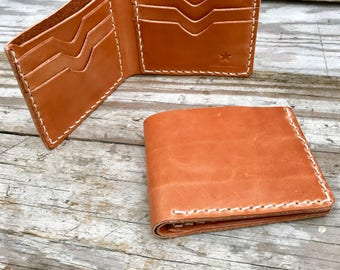 Wallet,Leather Wallet,brown wallet,Bifold wallet,mens gift bilfold wallet,husband gift,mens wallet