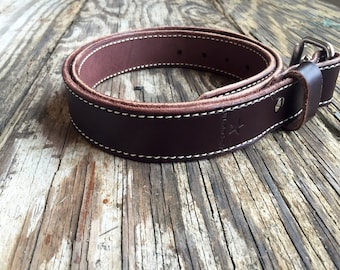 Leather belt,free shipping, stitched belt, mens belt, womens bel,t unisex, custom belt, mens gift women's gift