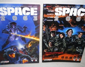 Space 2063-Volume 1 and Volume 2-Beautiful condition-feest comics-vintage comic