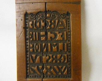 Old Wax Model - Historical Alphabet ABC - Wax Mold Springerle
