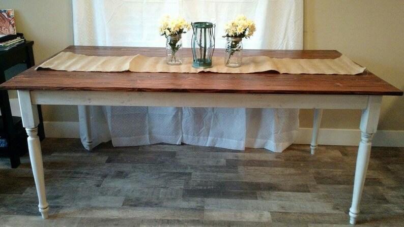 Custom Kitchen Table. Farmhouse table. Farmhouse dining table. Country  table. Rustic kitchen table. Dining table. Kitchen table.