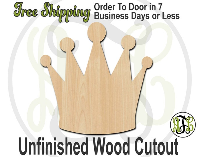 Crown 16- 24416- Cutout, unfinished, wood cutout, wood craft, laser cut shape, wood cut out, Door Hanger, wooden, ready to paint