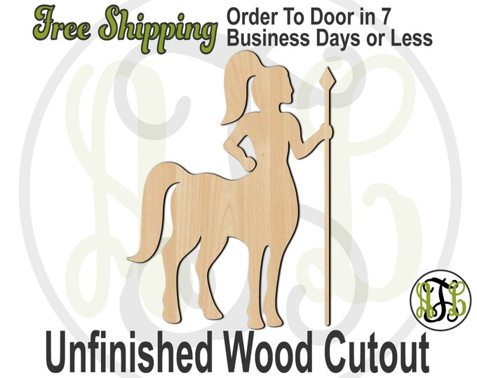 Centaur Mascot - 60533- School Spirit Cutout, unfinished, wood cutout, wood craft, laser cut shape, wood cut out, Door Hanger, wooden