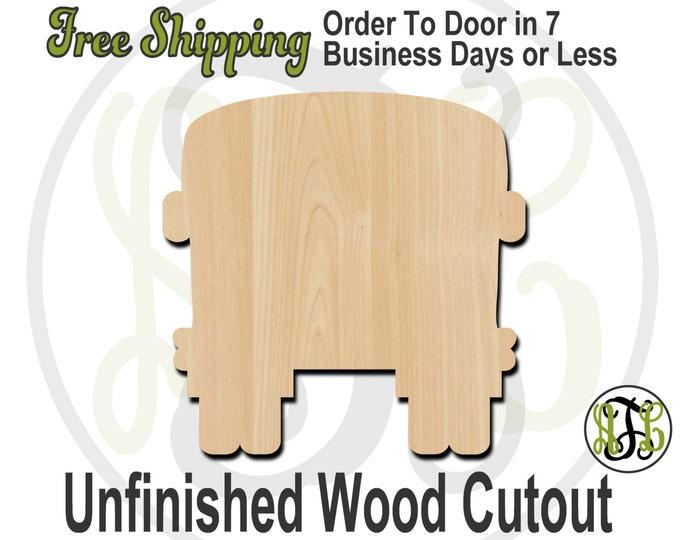 Bus Rear Wood Cutout, Bus Door Hanger, Teacher Door Hanger, wooden bus sign, wood cut out, laser cut, unfinished wood cutout - 70003