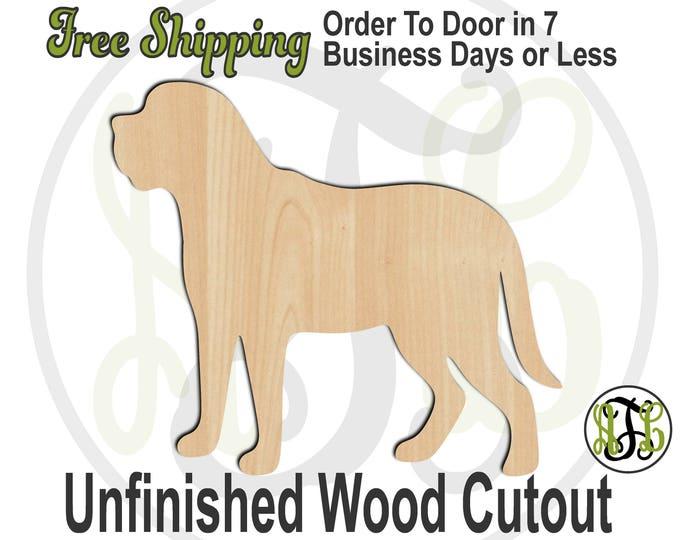 Mastiff - 230084- Animal Cutout, unfinished, wood cutout, wood craft, laser cut shape, wood cut out, Door Hanger, Dog, wooden, blank