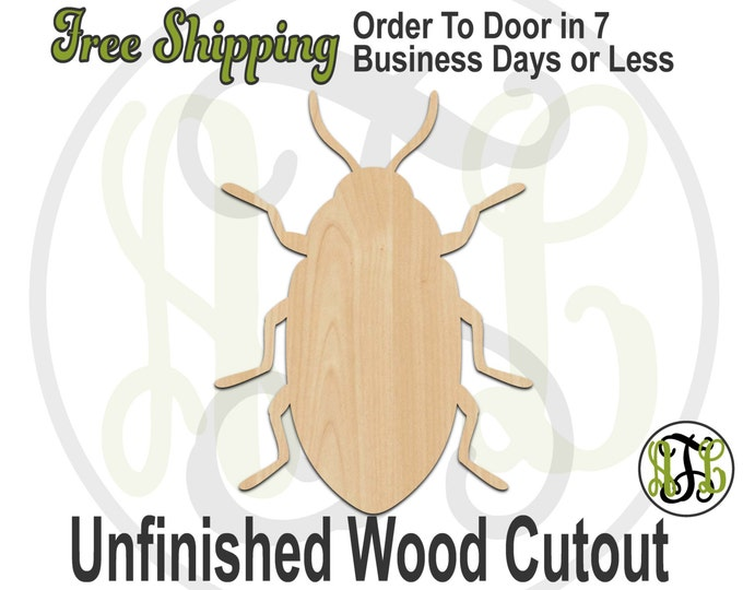 Beetle - 235012- Insect Cutout, unfinished, wood cutout, wood craft, laser cut shape, wood cut out, Door Hanger, wooden, blank