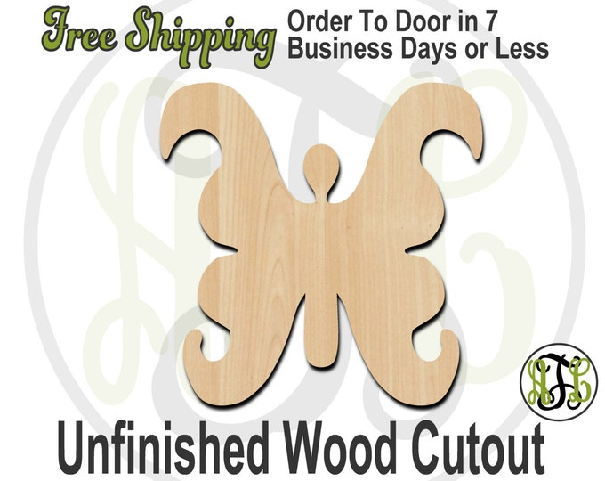 Butterfly - 235001- Insect Cutout, unfinished, wood cutout, wood craft, laser cut shape, wood cut out, Door Hanger, wooden, blank
