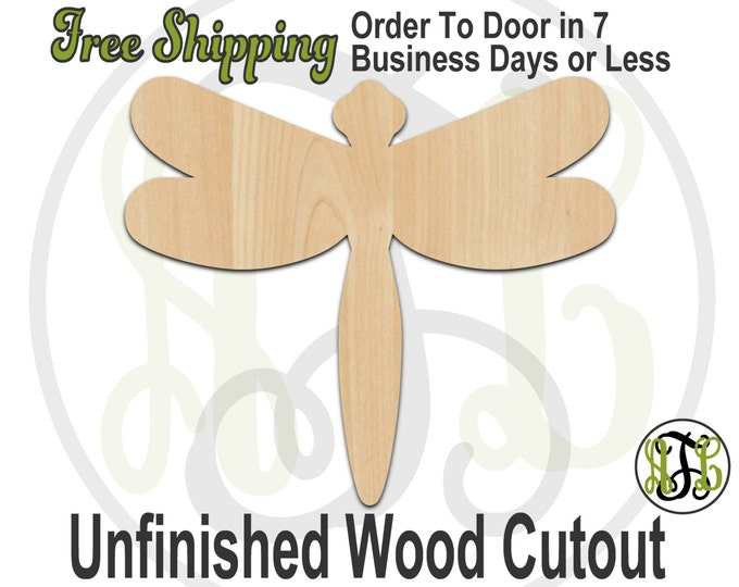 Dragonfly- 235006- Insect Cutout, unfinished, wood cutout, wood craft, laser cut shape, wood cut out, Door Hanger, wooden, blank