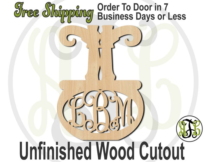 Witch Legs in Couldron - 160015M3- Halloween Cutout, 3-Letter Monogram, unfinished, wood cutout, wood craft, laser cut, wood cut out, wooden