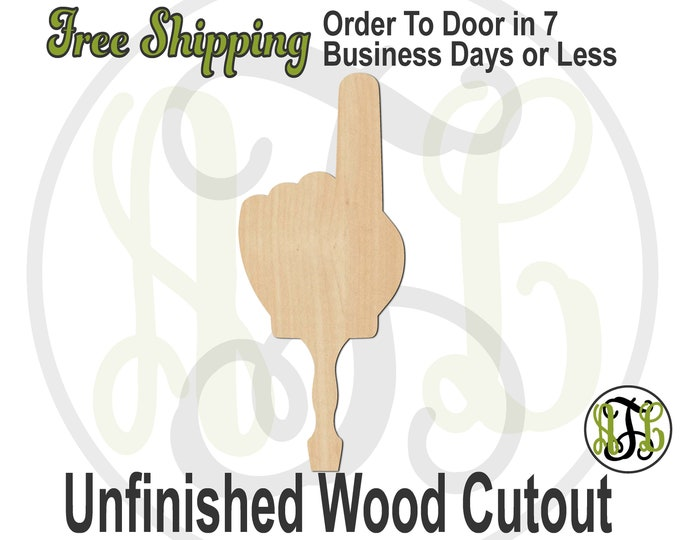 No. 1 Fan Hand Paddle Sign- 3400025 Cutout, unfinished, wood cutout, wood craft, laser cut shape, wood cut out, DIY, Free Ship, Sports