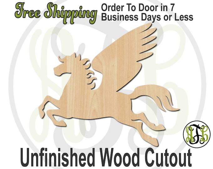 Pegasus Mascot- 60597- School Spirit Cutout, unfinished, wood cutout, wood craft, laser cut shape, wood cut out, Door Hanger, wooden