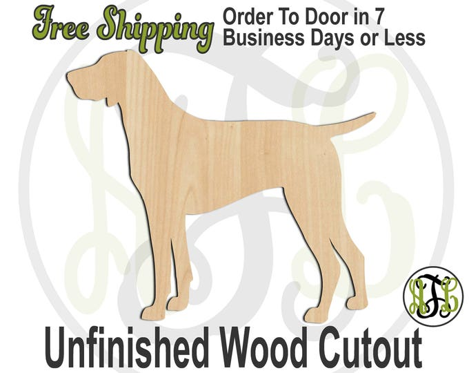 German Shorthaired Pointer - 230098- Animal Cutout, unfinished, wood cutout, wood craft, laser cut, wood cut out, Door Hanger, Dog, wooden