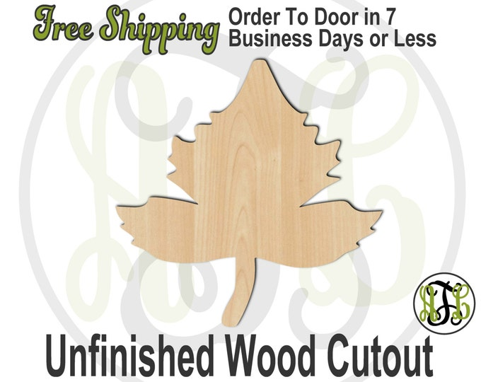 Leaf 3 - 220006- Fall Cutout, unfinished, wood cutout, wood craft, laser cut shape, wood cut out, Door Hanger, wooden, blank
