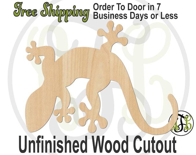 Gecko - 235014 - Reptile Cutout, unfinished, wood cutout, wood craft, laser cut shape, wood cut out, wood cut out, wooden, Lizard