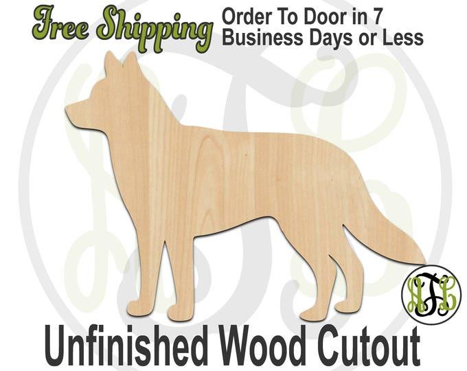 Husky - 230082- Animal Cutout, unfinished, wood cutout, wood craft, laser cut shape, wood cut out, Door Hanger, Dog, wooden, blank