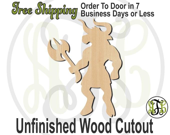 Minotaur Mascot - 60585- School Spirit Cutout, unfinished, wood cutout, wood craft, laser cut shape, wood cut out, Door Hanger, wooden