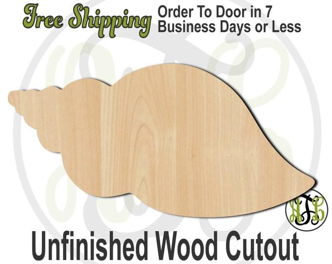 Shell 3 - 50016- Nautical Cutout, unfinished, wood cutout, wood craft, laser cut shape, wood cut out, Door Hanger, Beach, wooden, blank