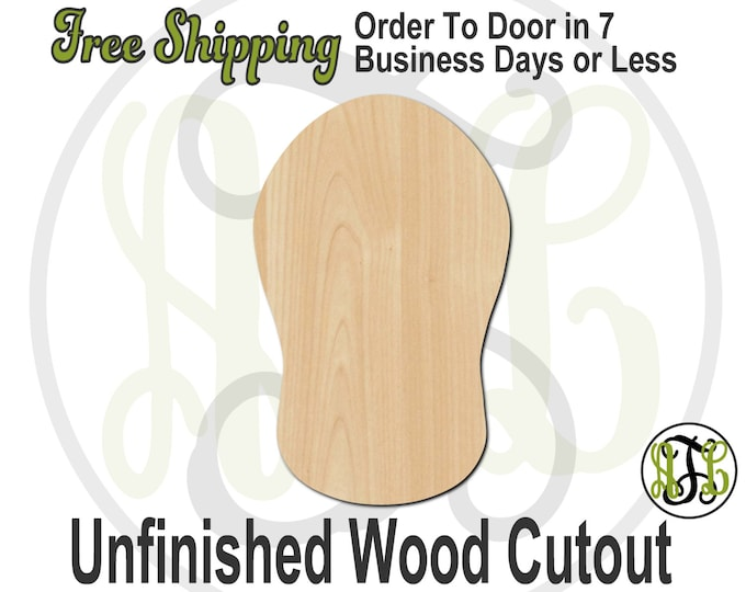 1 Flip Flop - 210009- Cutout, unfinished, wood cutout, wood craft, laser cut shape, wood cut out, Door Hanger, wooden, ready to paint