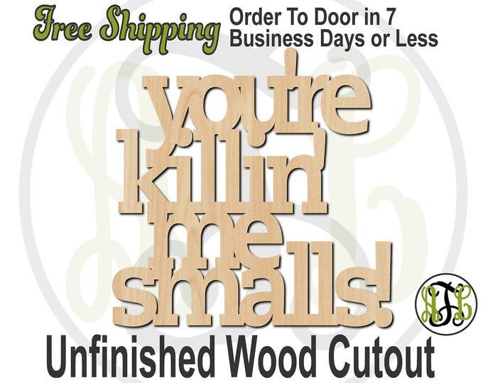 BasebaII smaIIs- 325007- Sign Cutout, unfinished, wood cutout, wood craft, laser cut wood, wood cut out, Door Hanger, baseball, wooden sign