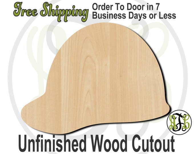 Hard Hat - 24206- Cutout, unfinished, wood cutout, wood craft, laser cut shape, wood cut out, Door Hanger, wooden, ready to paint